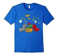 Funny Saurus Halloween Costumes Saurus Lovers Shirts Royal Blue