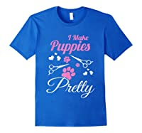 Pet Grooming For Cute Groomer Gift Shirts Royal Blue