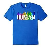 Human Flag Lgbt Gay Pride Transgender Gift Premium T-shirt Royal Blue