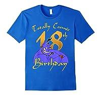 Disney Aladdin Genie Totally Cosmic 18th Birthday T-shirt Royal Blue