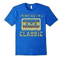 Vintage Cassette I'm Not Old I'm A Classic 1959 60th Shirts Royal Blue