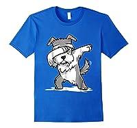 Schnauzer Cute Dabbing Funny Dab Dance Gif Shirts Royal Blue