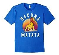 Disney The Lion King Simba Hakuna Matata Pride Rock Portrait Premium T-shirt Royal Blue