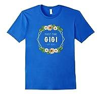 First Time Gigi Est 2021 Gift Shirts Royal Blue