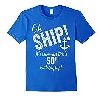 Ernie And Debs Birthday Cruise Shirts Royal Blue