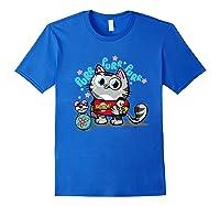 The Big Bang Theory Purr Purr Purr Shirts Royal Blue