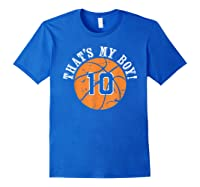 Unique That\\\'s My Boy #10 Basketball Player Mom Or Dad Gifts T-shirt Royal Blue