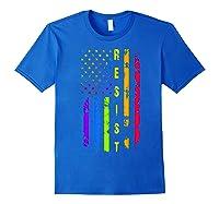 Pride Lgbt Colorful Flag Rainbow Shirts Royal Blue