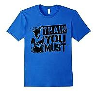 Star Wars Yoda Train You Must Active Graphic T-shirt Royal Blue