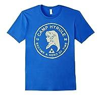 Nintendo Zelda Link Camp Hyrule 1986 Craft Premium T-shirt Royal Blue