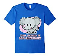 Safari For Your Opinion Is Irr Elephant Shirts Royal Blue