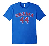 Obama 44 Basketball Shirt Distressed Vintage Tee T-shirt Royal Blue