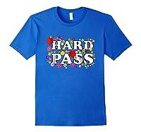 Hard Pass Floral Baseball Feminist Shirts Royal Blue