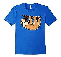 Cute Sloth Wild Animal Lover Perezoso Bear Gift Shirts Royal Blue