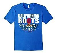 Storecastle Californian Roots California Pride Gift Shirts Royal Blue
