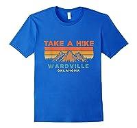 Oklahoma Vintage Take A Hike Wardville Moutain T-shirt Royal Blue