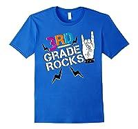 3rd Grade Rocks, 1st Day Of School Shirt Students Teas Royal Blue