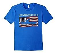 Uss Yorktown Cv-5 Gift For A Us Military Veteran T-shirt Royal Blue