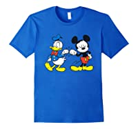 Disney Mickey Mouse And Donald Duck Best Friends T-shirt Royal Blue