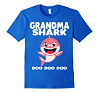 Grandma Shark Doo Doo Shirt For Matching Family Pajamas T-shirt Royal Blue