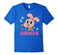 The Amazing World Of Gumball Anais Portrait Shirts Royal Blue