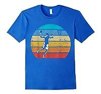 Vintage Basketball Retro Vintage Style Basketball Gift Shirts Royal Blue