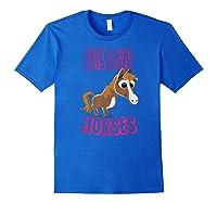 Just A Horse Girl T-shirt Royal Blue