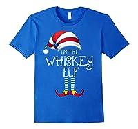 I'm The Whiskey Elf Family Matching Christmas Gift Group Shirts Royal Blue