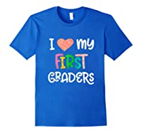 1st Grade Tea Love First Graders School Class Colorful Shirts Royal Blue