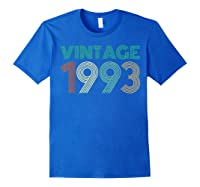 26th Birthday Gift Idea Vintage 1993 T-shirt Distressed Royal Blue