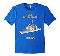 Leyte Gulf Cg 55 Navy Sailor Veteran Gift Shirts Royal Blue
