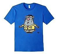 Nature Cat Houston Character T-shirt T-shirt Royal Blue
