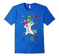 Eletary School Rocks Dabbing Unicorn Back To School Gifts T-shirt Royal Blue