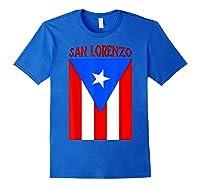 Puerto Rican San Lorenzo Puerto Rico Flag Shirt Royal Blue