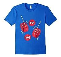 Yo-yo Shirt Yoyo Ball T-shirt Gift Royal Blue