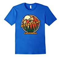 Vintage Myers Flat California Mountain Hiking Souvenir Print T-shirt Royal Blue