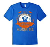 Missionary Nothing Scares Me Funny Halloween T-shirt Royal Blue