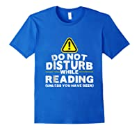Drinking Beer Lovers Funny Book Reading T-shirt Royal Blue