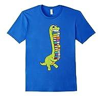 Teasaurus Dinosaur Tea Dino Reading Book Shirts Royal Blue
