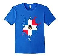 Dominican Republic Flag Inside Dominicana Republica Pride Shirts Royal Blue