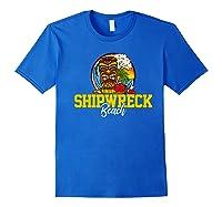 Shipwreck Beach Shirts Royal Blue