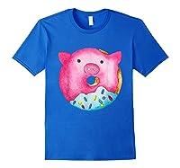 Donut Pig Shirts Royal Blue