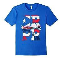 Dominirican Puerto Rico And Republica Dominicana Pride Shirts Royal Blue