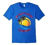 Belmont Shore Beach Surf California Gift Shirts Royal Blue