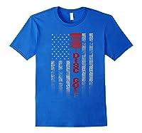 Disc Golf Basket Flag Design Gift For Disc Golfers Shirts Royal Blue