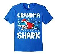 Grandma Shark Santa Christmas Family Matching S Shirts Royal Blue