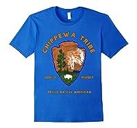 Chippewa Tribe Native American Indian Pride Respect Honor T-shirt Royal Blue