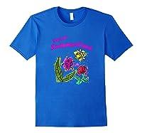 Sunshine, Flowers And Honey Bees Shirts Royal Blue