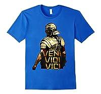 Veni Vidi Vici Spqr Roman Empire Quote Shirts Royal Blue