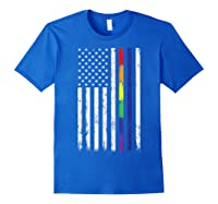 Police Support Lgbt Gay Pride Thin Red Line Rainbow Flag Fun T-shirt Royal Blue